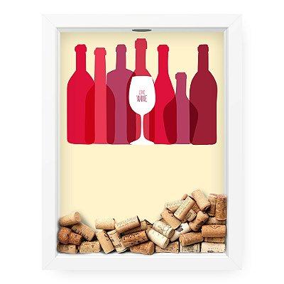 Quadro Porta Rolha de Vinho  Love Wine