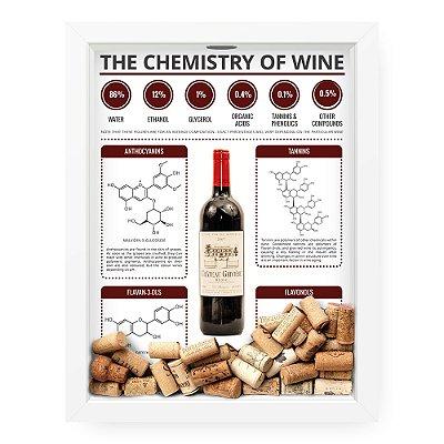 Quadro Porta Rolha de Vinho The Chemistry Of Wine