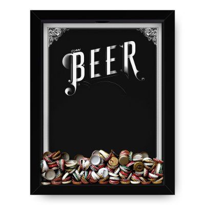 Quadro Porta Tampinha de Cerveja  Beer Black
