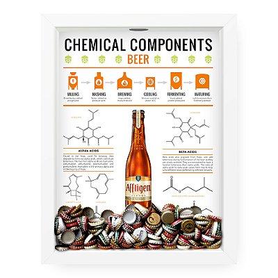 Quadro Porta Tampinha de Cerveja  Beer Chemical Components