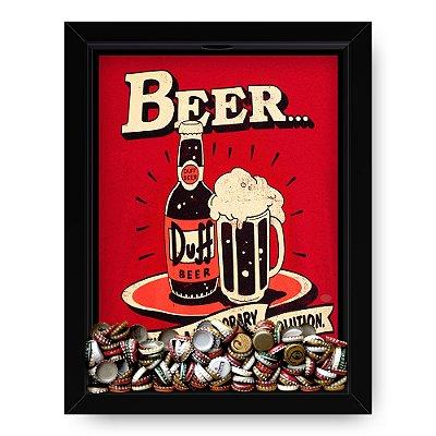 Quadro Porta Tampinha de Cerveja  Beer Duff