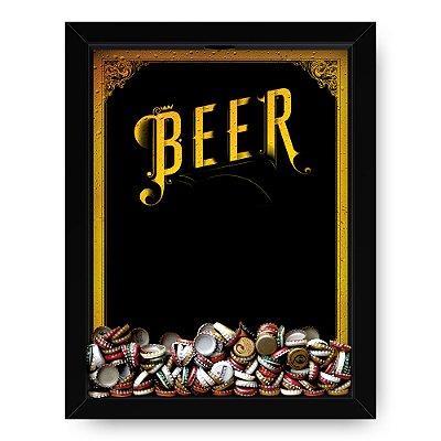 Quadro Porta Tampinha de cerveja Beer Frame