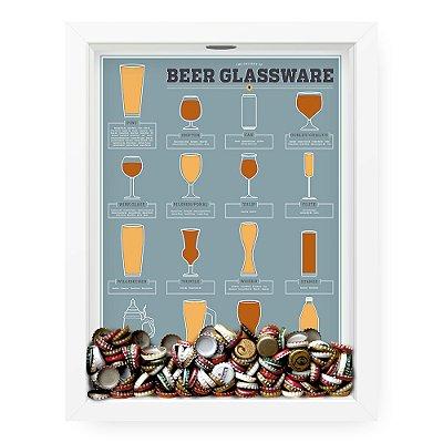 Quadro Porta Tampinha de Cerveja  Beer Glasware