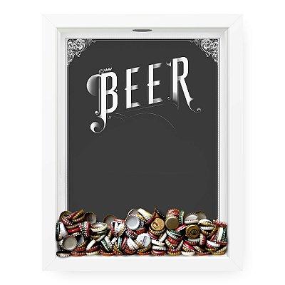 Quadro Porta Tampinha de Cerveja  Beer Gray