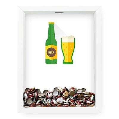 Quadro Porta Tampinha de Cerveja  Beer Minimalista