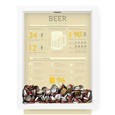 Quadro Porta Tampinha de Cerveja  Beer Nutrients