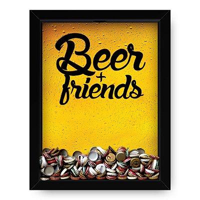Quadro Porta Tampinha de Cerveja  Beer With Friends