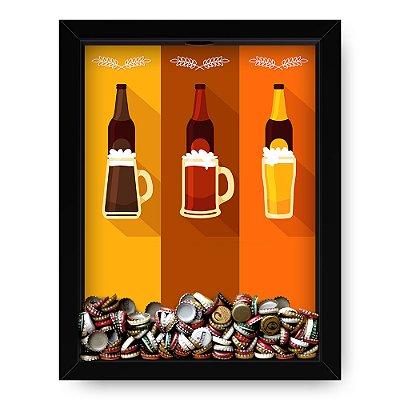 Quadro Porta Tampinha de Cerveja  Beers Colors