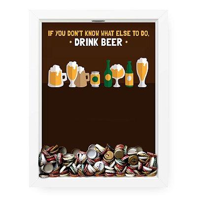 Quadro Porta Tampinha de Cerveja  Drink Beer