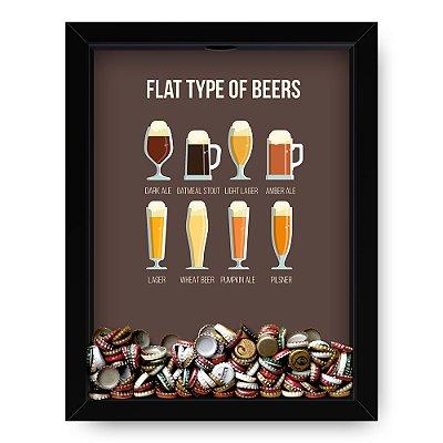 Quadro Porta Tampinha de cerveja Flat Beers