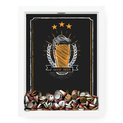 Quadro Porta Tampinha de Cerveja  Good Beer