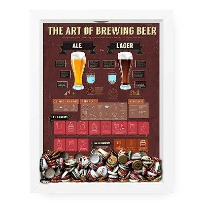 Quadro Porta Tampinha de cerveja The Art Of Beer