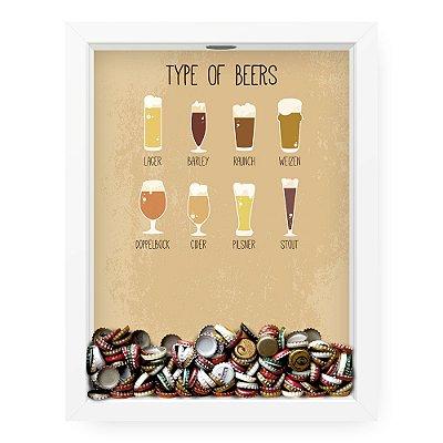 Quadro Porta Tampinha de Cerveja  Tipos De Cerveja
