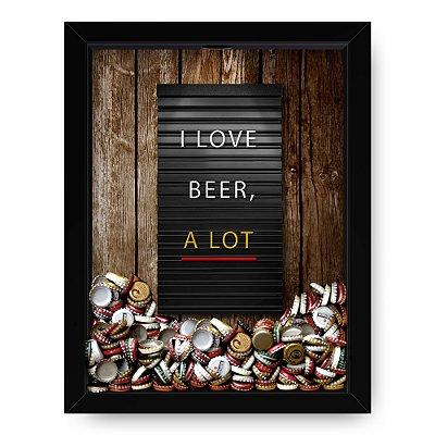 Quadro Porta Tampinha de Cerveja  Letrex Wood