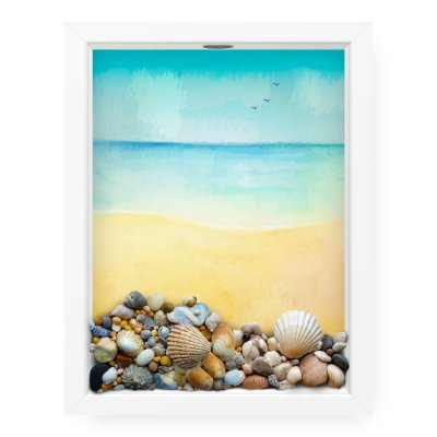 Quadro Porta Conchas  Sea Paint
