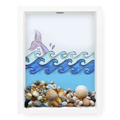 Quadro Porta Conchas  Wale Sea