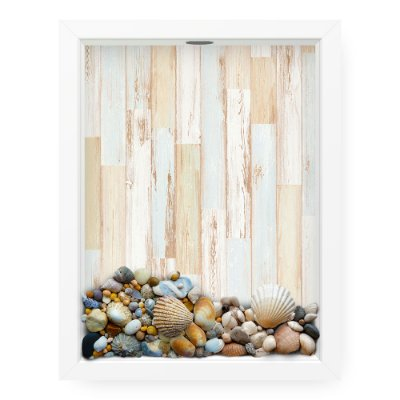 Quadro Porta Conchas  Wood Color