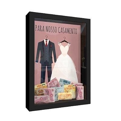 Quadro Cofre Casamento Para Nosso Casamento 01
