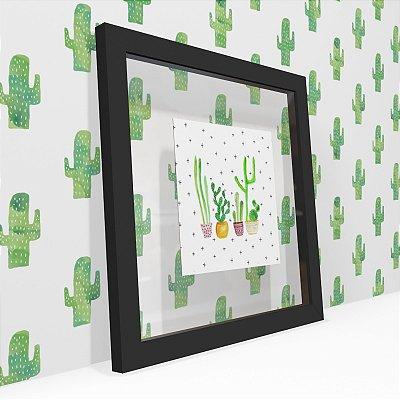 Quadro Transparente Cactus