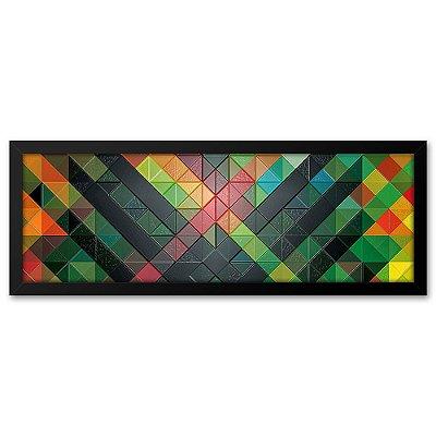 Quadro 60x20 Azulejo Geometrico