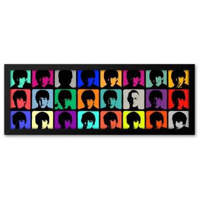 Quadro 60x20 Beatles Pop Art