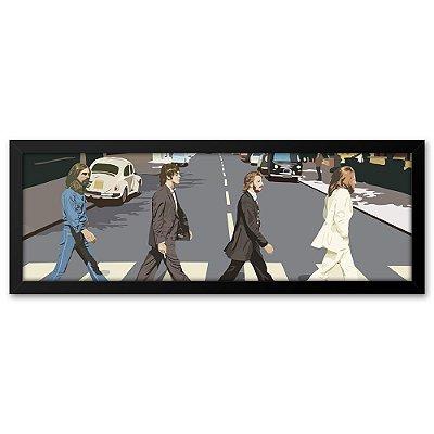 Quadro 60x20 Beatles na Rua vetor