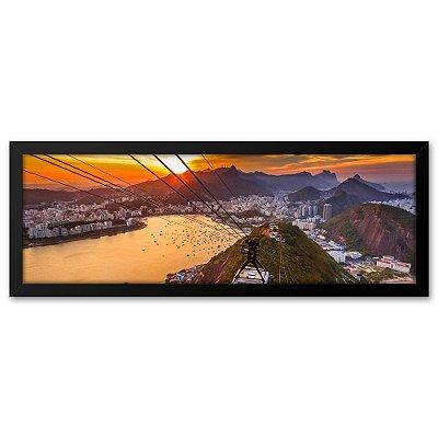 Quadro 60x20 Bondinho Pão de Açucar Rio de Janeiro