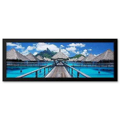 Quadro 60x20 Praia Bora Bora