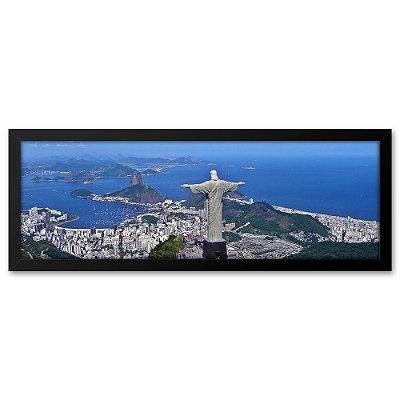 Quadro 60x20 Cristo Redentor no Rio de Janeiro