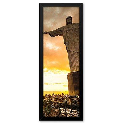 Quadro 60x20 Cristo Redentor Inteiro no Rio de Janeiro