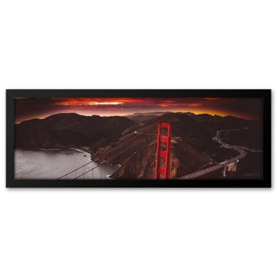 Quadro 60x20 Golden Gate São Francisco