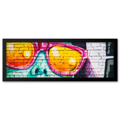 Quadro 60x20 Grafite Óculos
