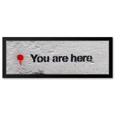 Quadro 60x20 Grafite You Are Here