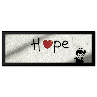 Quadro 60x20 Grafite Hope