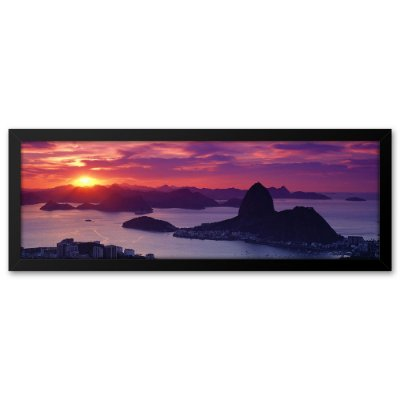 Quadro 60x20 Por do sol no Pão de Açucar Rio de Janeiro