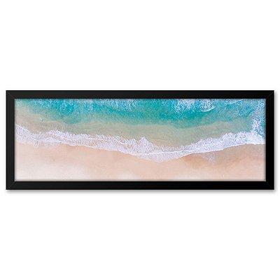 Quadro 60x20 Praia, mar areia e sol
