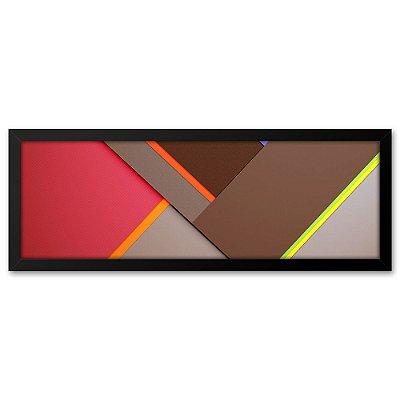 Quadro 60x20 Abstrato Triangulos 3d