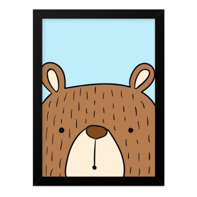 Quadro A3 Cool Animals Urso