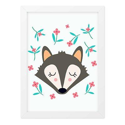 Quadro A3 Cute And Wild Fox