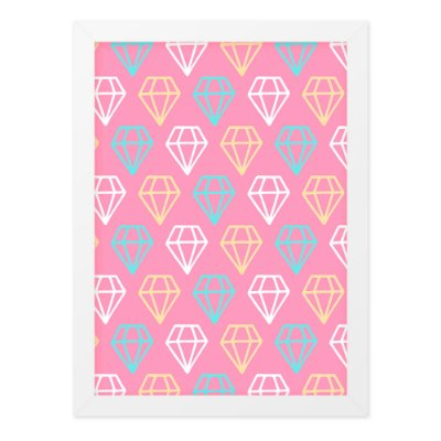 Quadro A3 Cute Love Diamonds