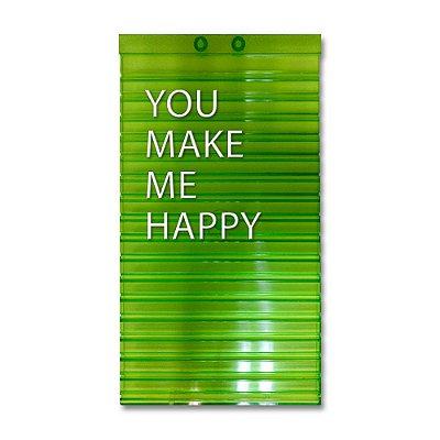 Placa de Letras Personalizável Verde