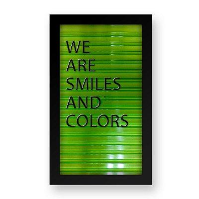 Placa de Letras Personalizável Verde com Moldura Preta