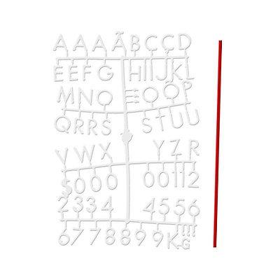 Conjunto de Letras Brancas