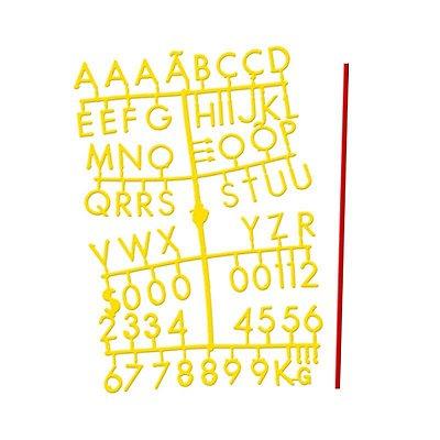 Conjunto de Letras Amarelas