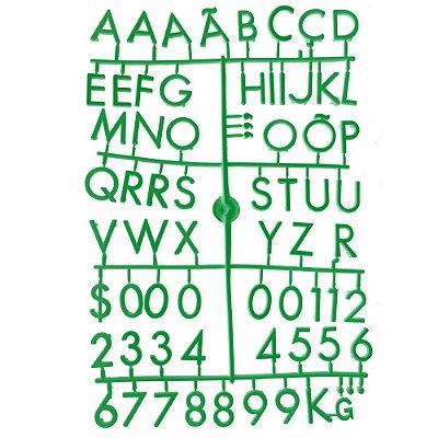 Conjunto de Letras Verdes