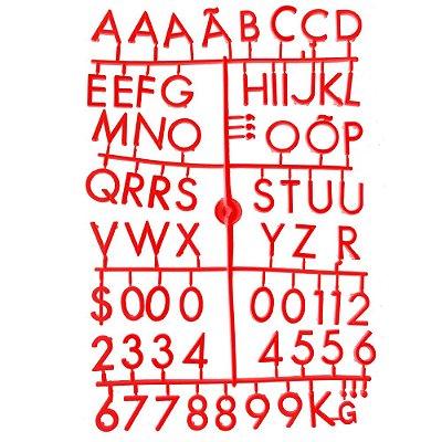 Conjunto de Letras Vermelhas