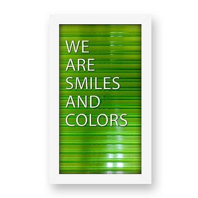 Placa de Letras Personalizável Verde com Moldura Branca
