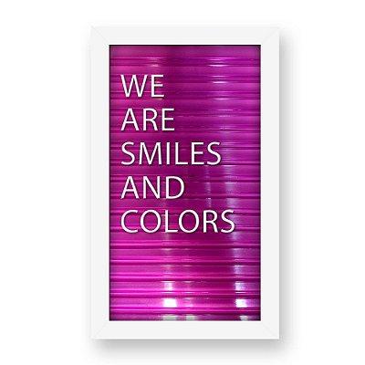 Placa de Letras Personalizável Rosa com Moldura Branca