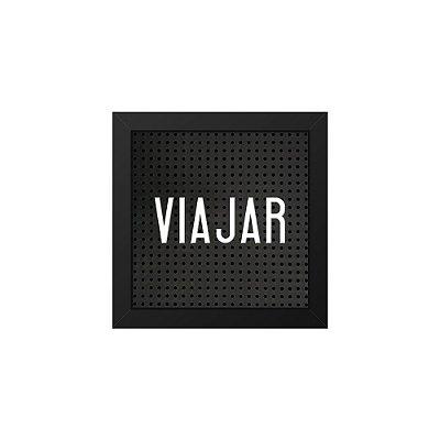 Placa de Letras Plugg Viajar