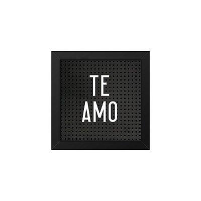 Placa de Letras Plugg Te Amo